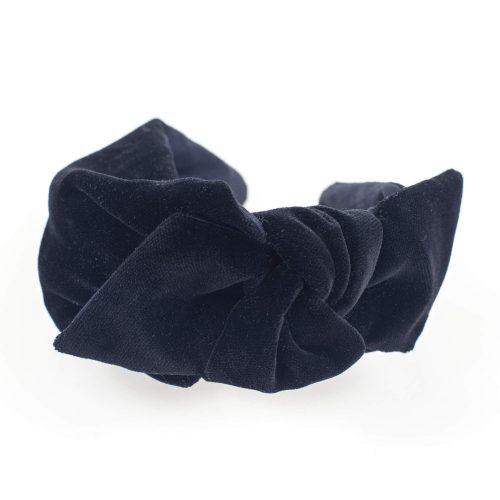 Serre-tête Lana en velours noir et noeud
