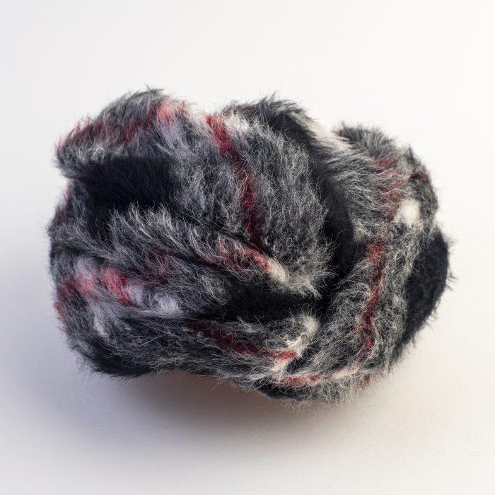 Turban en mohair Lola noir et gris