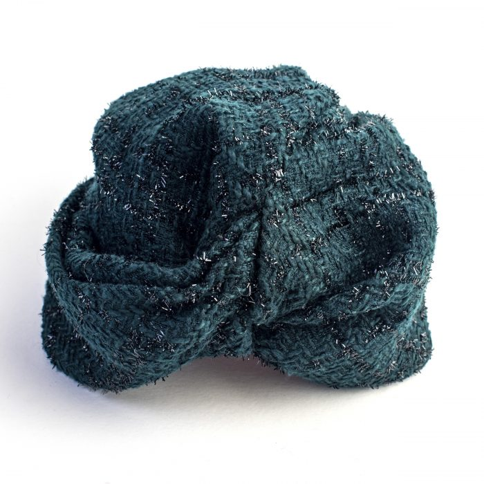 Turban Lydia drapé en polyester vert