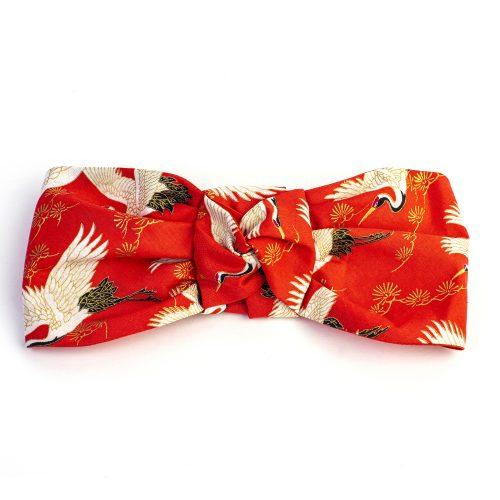 Turban Jasmine en coton imprimé rouge