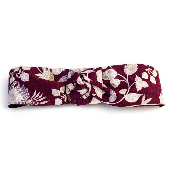 Turban Patsy en coton imprimé à fleurs
