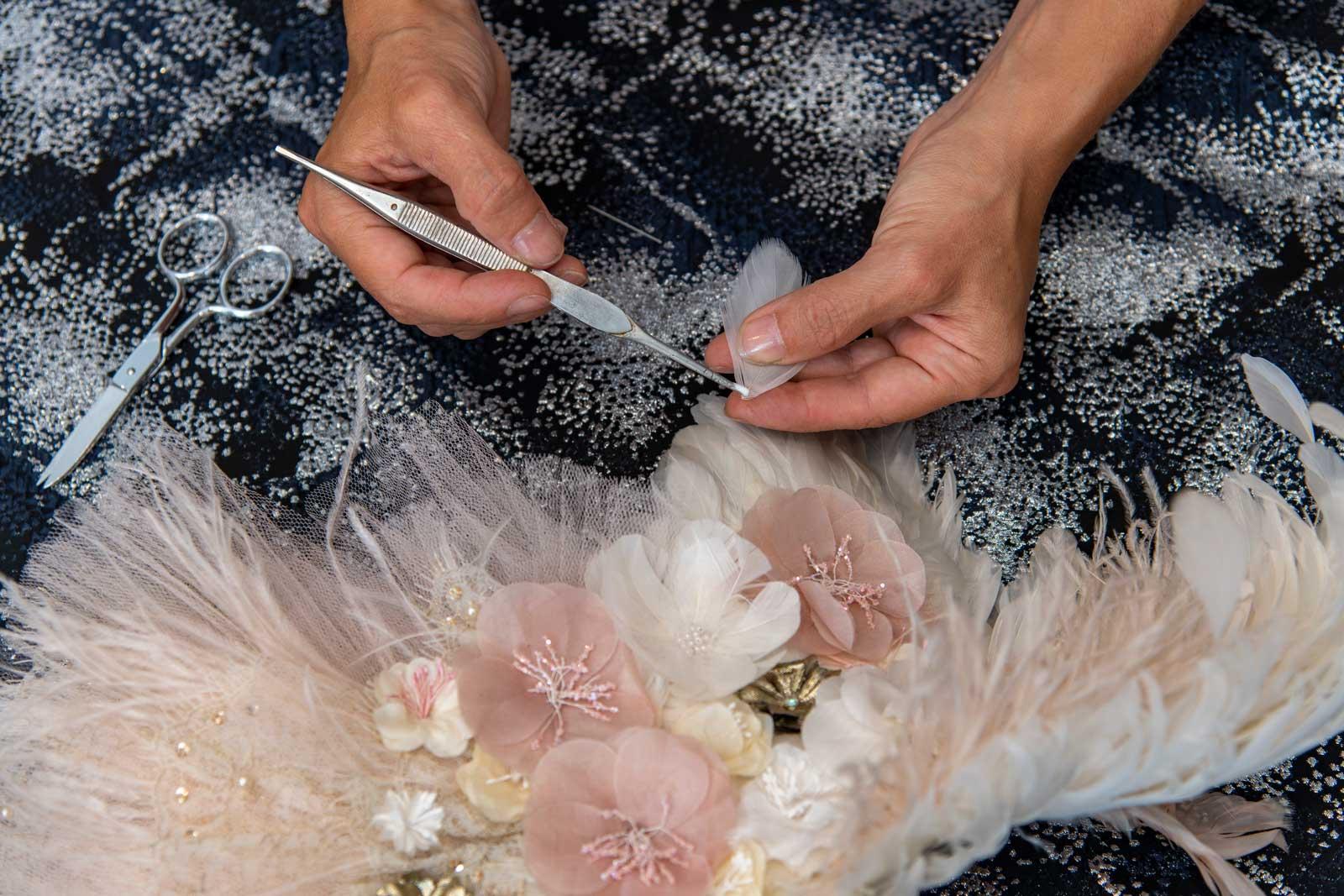 Haute Couture Plumasserie Plumes Plastron Johanna Braitbart