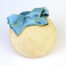 Bibi Paille Rond Noeuds Satin Turquoise
