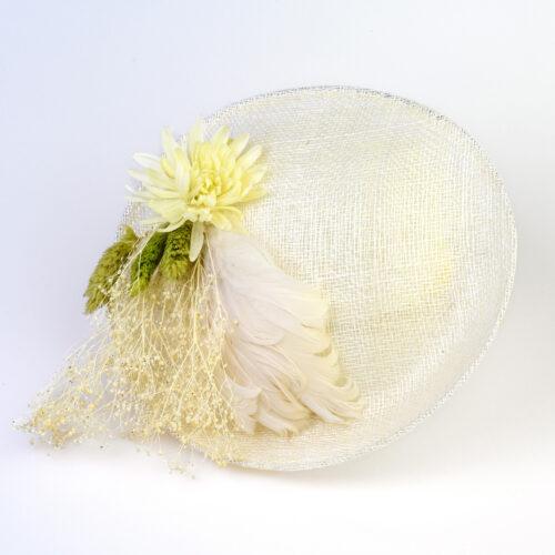 Bibi Sisal Creme Fleurs Plumes