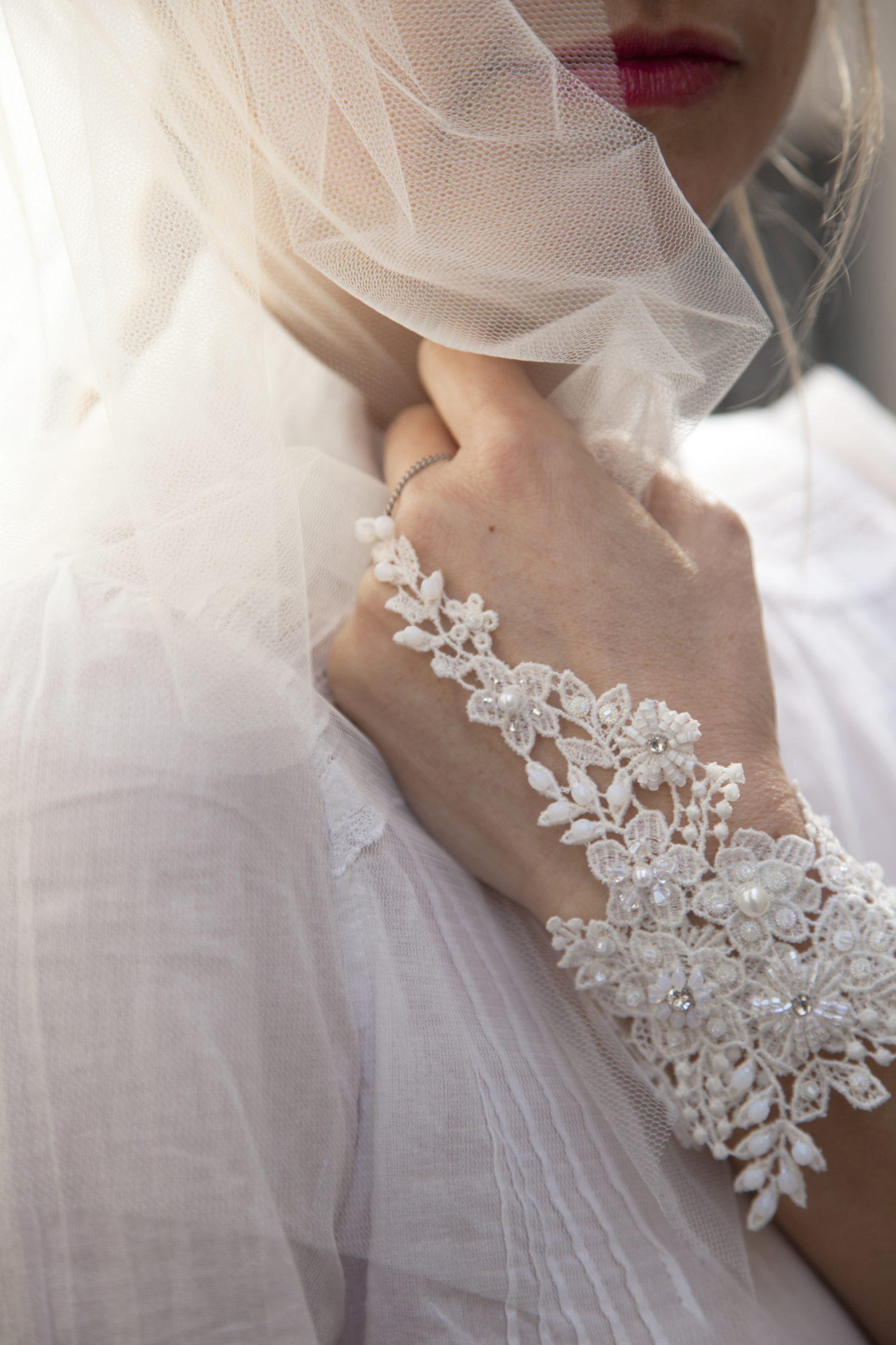 Bracelet Dentelle Broderie